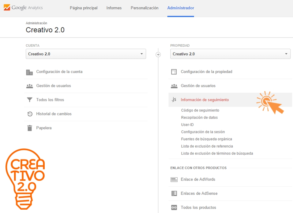 vincular Google Analytics