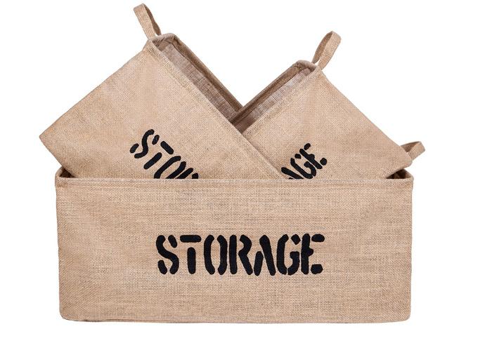 Vintage Burlap Boxes