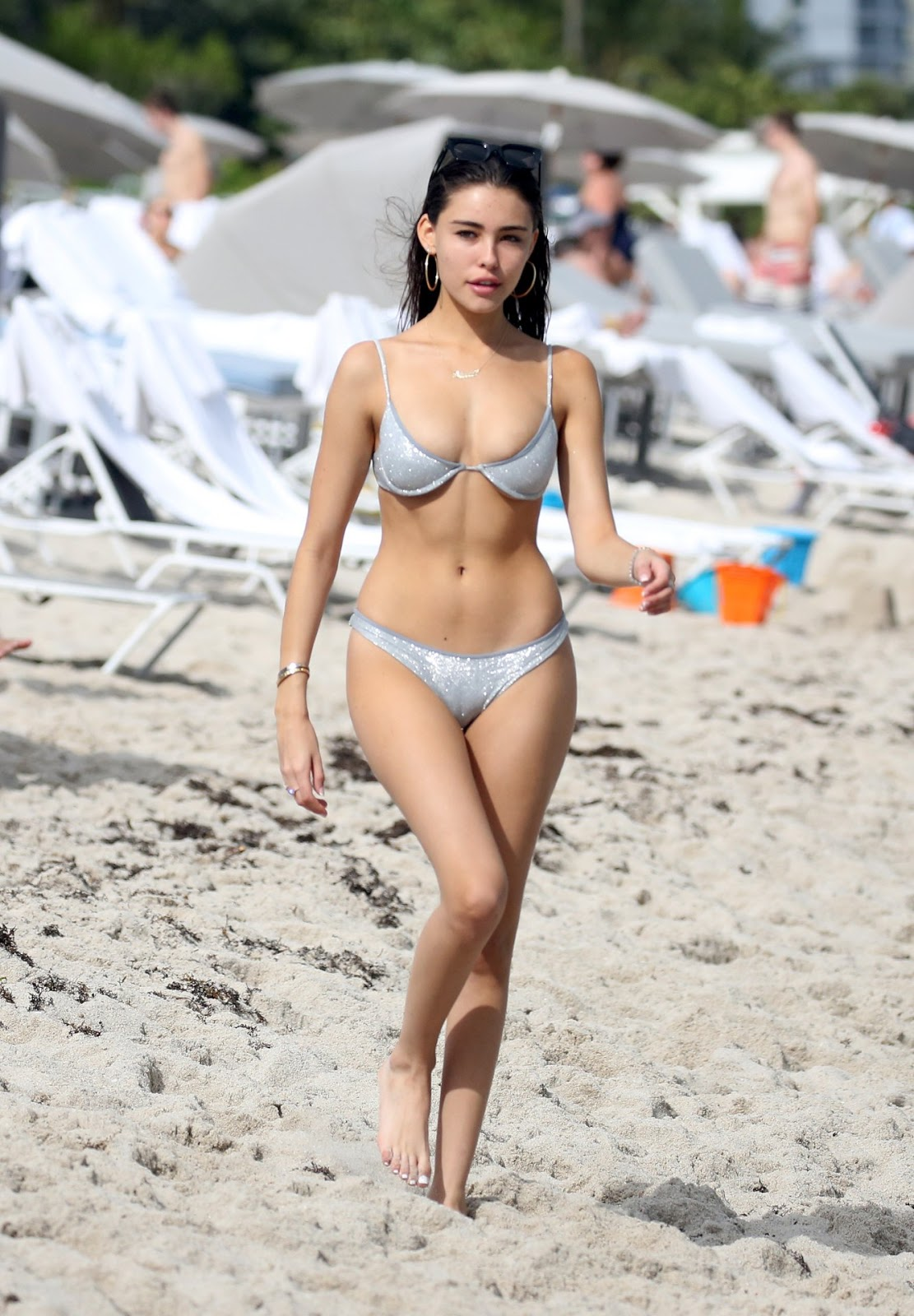 Madison Beer gets cheeky on the beach in tiny bikini while enjoying Thanksgiving holiday in Miami