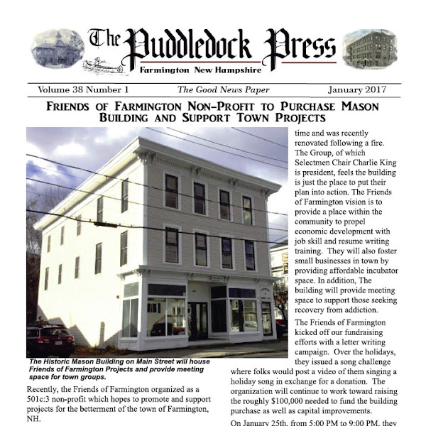 The January Issue of the Puddledock Press is Online Now
