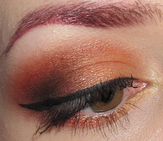 Glitter Is My Crack Burnt Orange Eye Makeup W Gold Lips