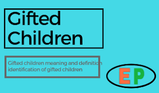 प्रतिभाशाली बालक का अर्थ एवं परिभाषा, प्रतिभाशाली बालक की पहचान