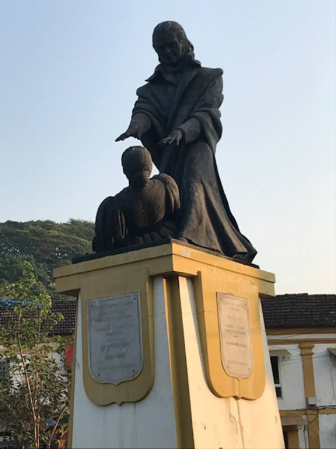 The Statue Of Abbe Faria at Panjim Goa