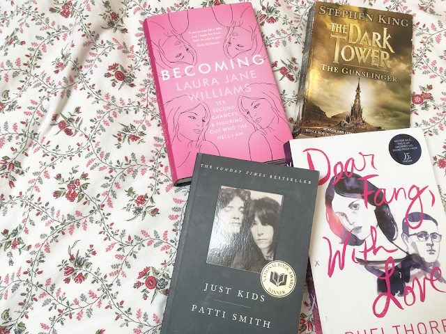 Favourite Books of 2016 - Becoming by Laura Jane Williams, Just Kids by Patti Smith, Dear Fang With Love by Rufi Thorpe, The Gunslinger by Stephen King, Bitter Greens by Kate Forsyth, and Wolf in White Van by John Darnielle