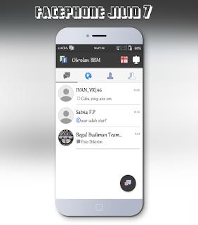 BBM Mod Android Facephone Jilid 7 Versi 2.10.0.30