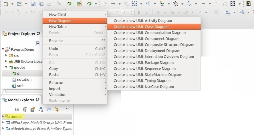 코드 보관함: Eclipse 이클립스 Papyrus(파피루스)를 이용해서 UML 다이어그램 그리기