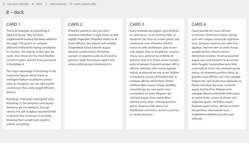 theatre of noise: Bootstrap 4 column templates