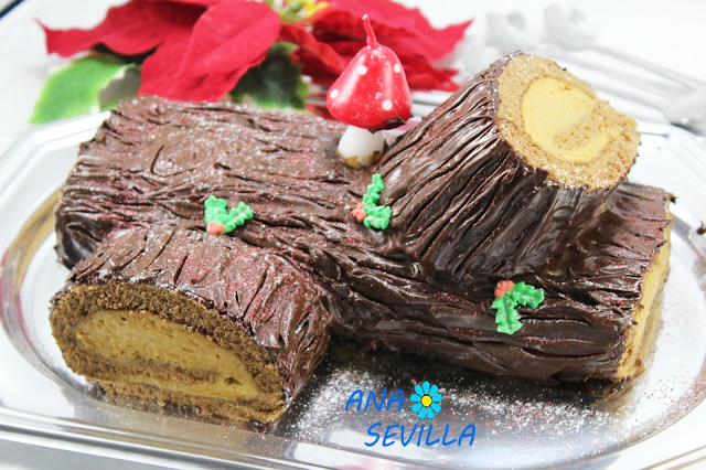 Tronco de mascarpone y caramelo Thermomix Ana Sevilla