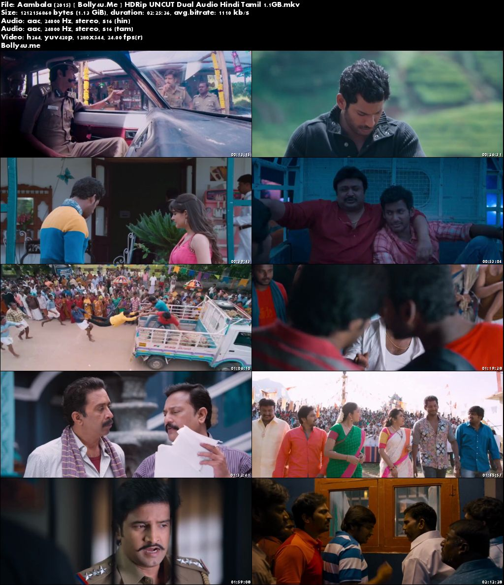 Aambala 2015 HDRip 450MB UNCUT Hindi Dual Audio 480p Download
