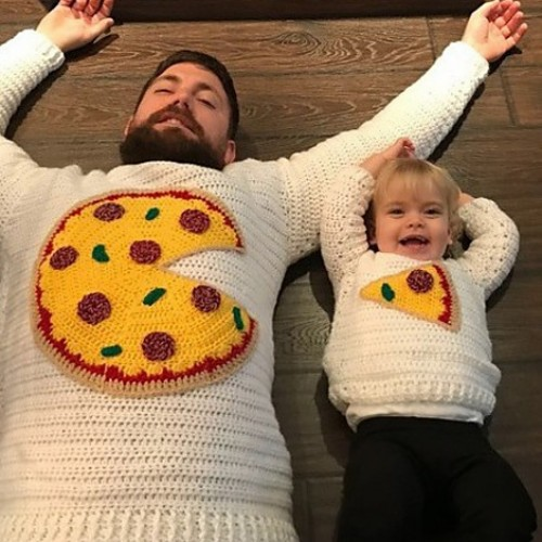Pizza Pie Sweater for 2 - Crochet Pattern