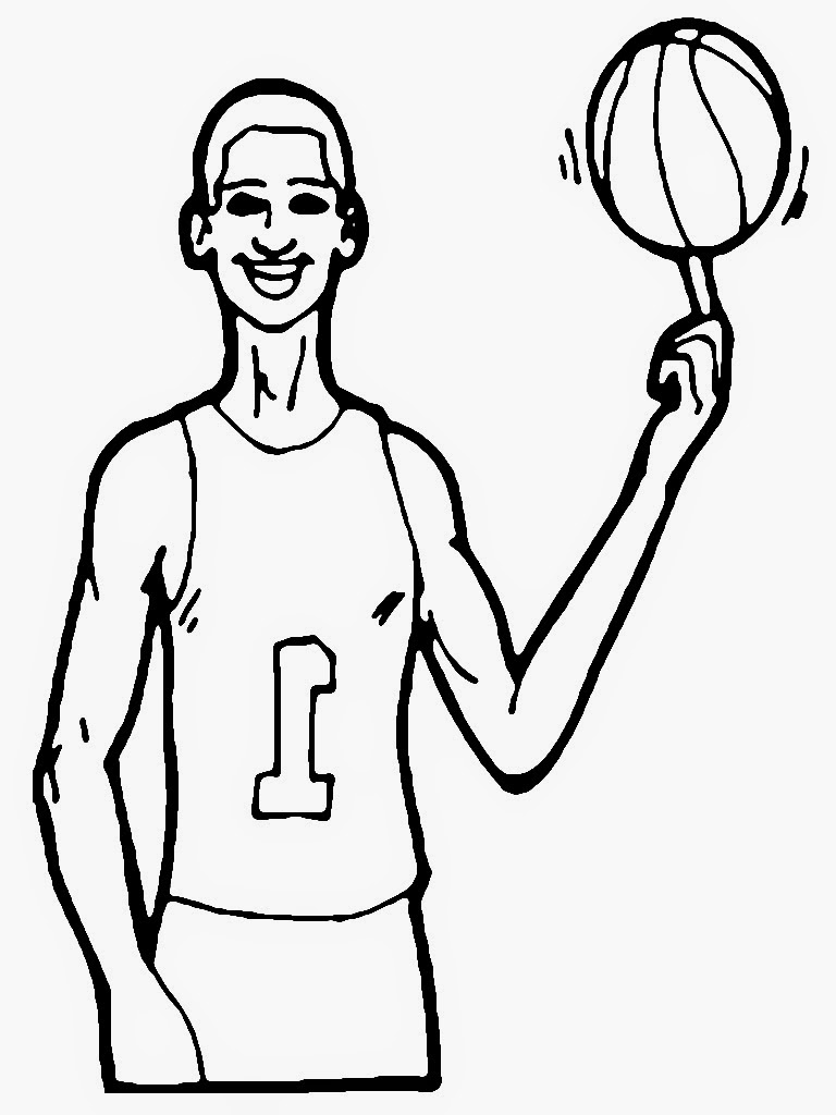 basketball player coloring pages - photo#36