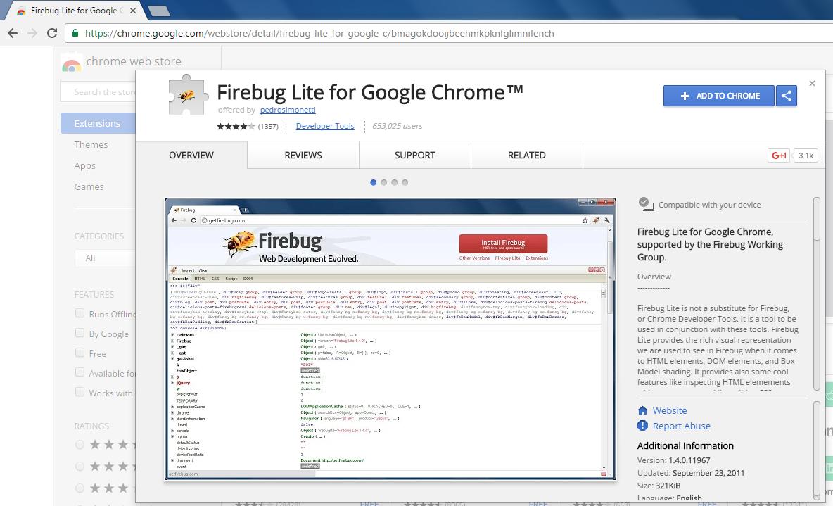 Firebug for chrome | Automation Home