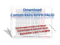 Contoh RKH  RPPH PAUD Kelompok A dan B Lengkap