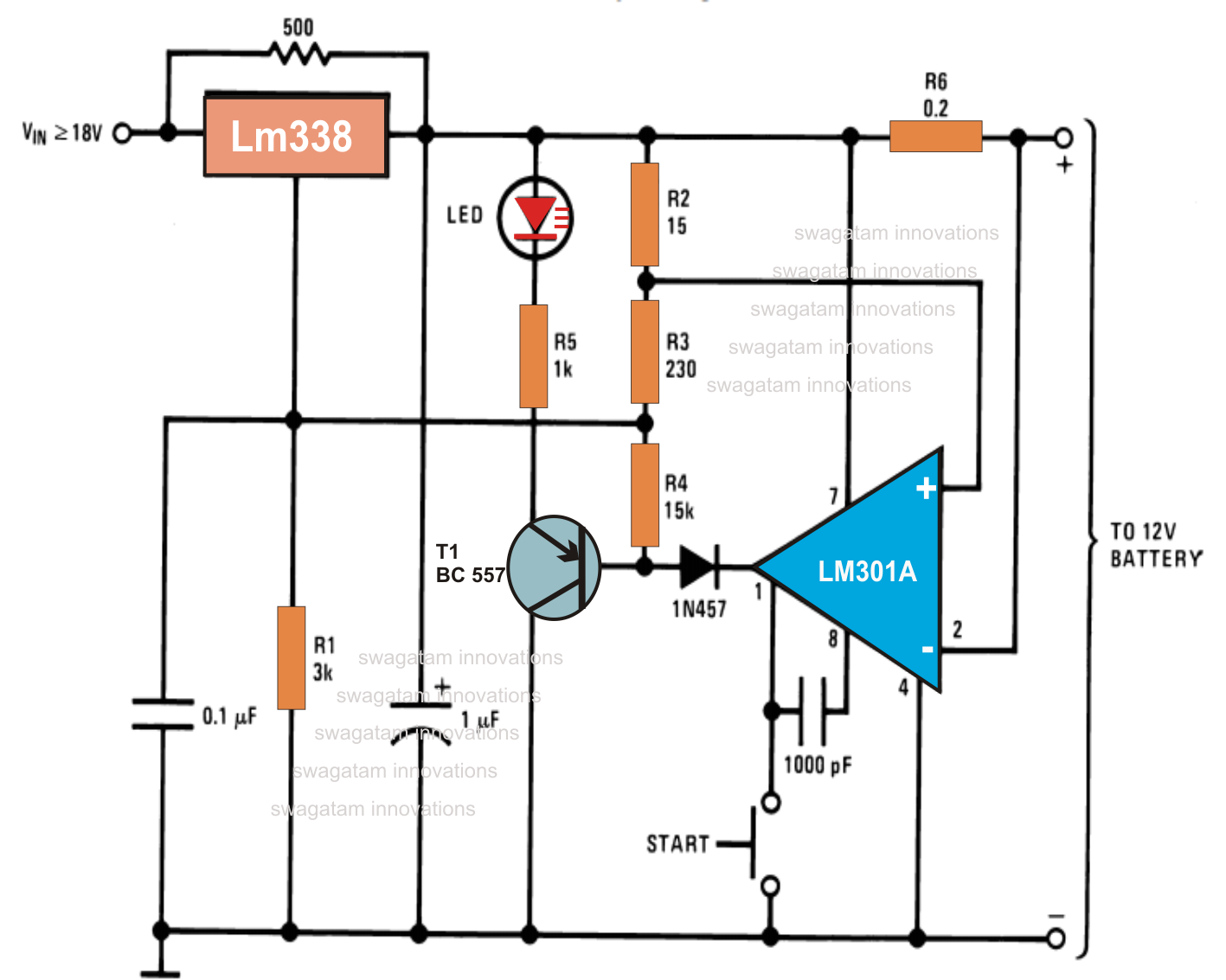 This circuit can be used for 50AH Max amp battery