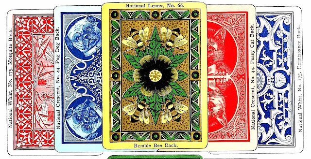 1893 playing cards large color illustration
