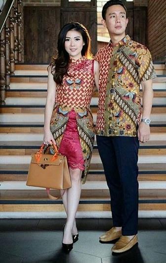Model Baju Batik Couple Untuk Acara Pernikahan