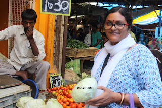 My Cooking teacher, Sushmita during our market trail