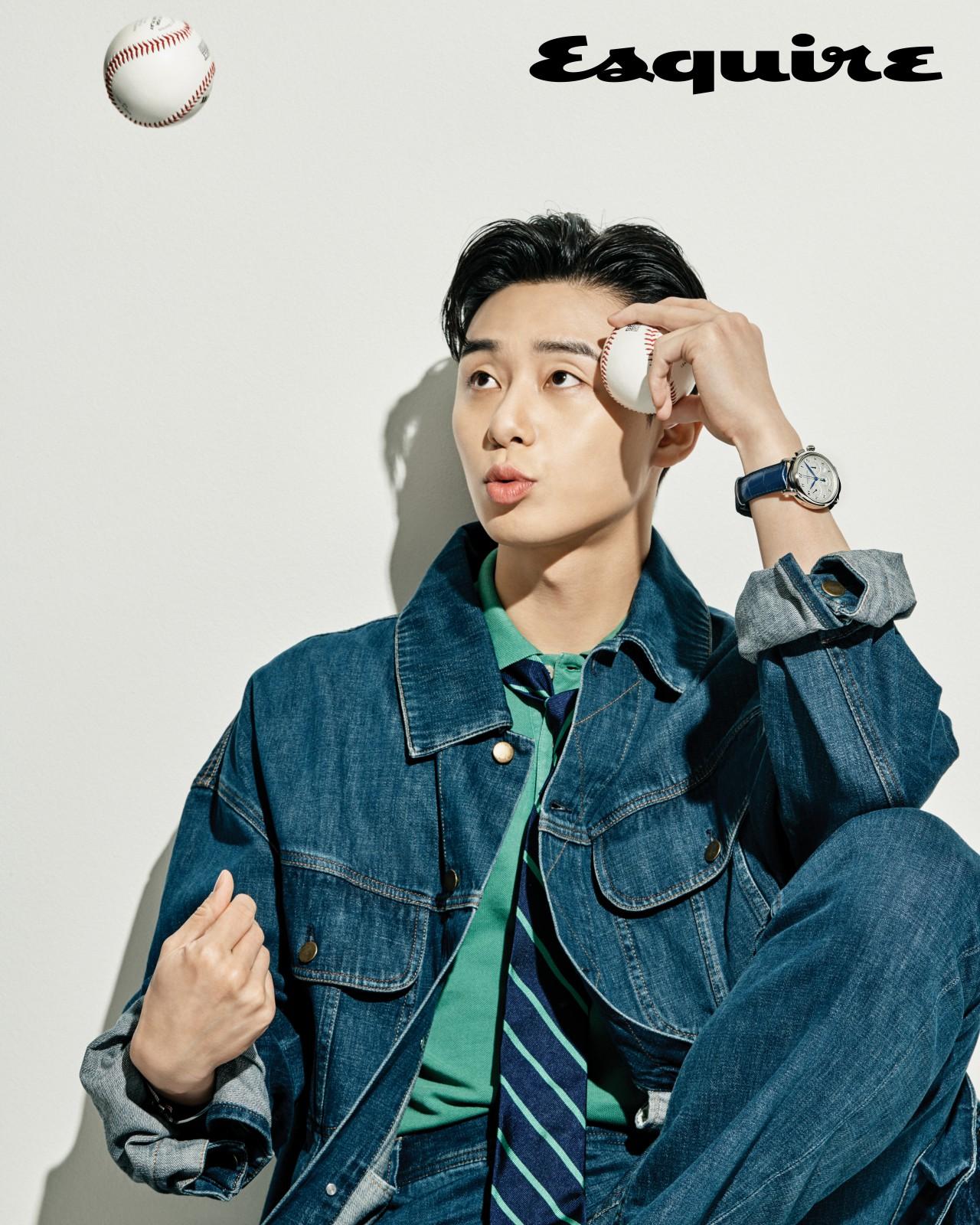 Park Seo Joon Models Montblanc Watches in Esquire Korea ...