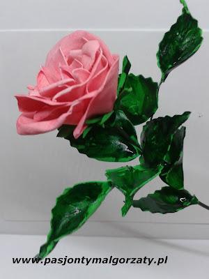 Róża foamiran, ręcznie robina