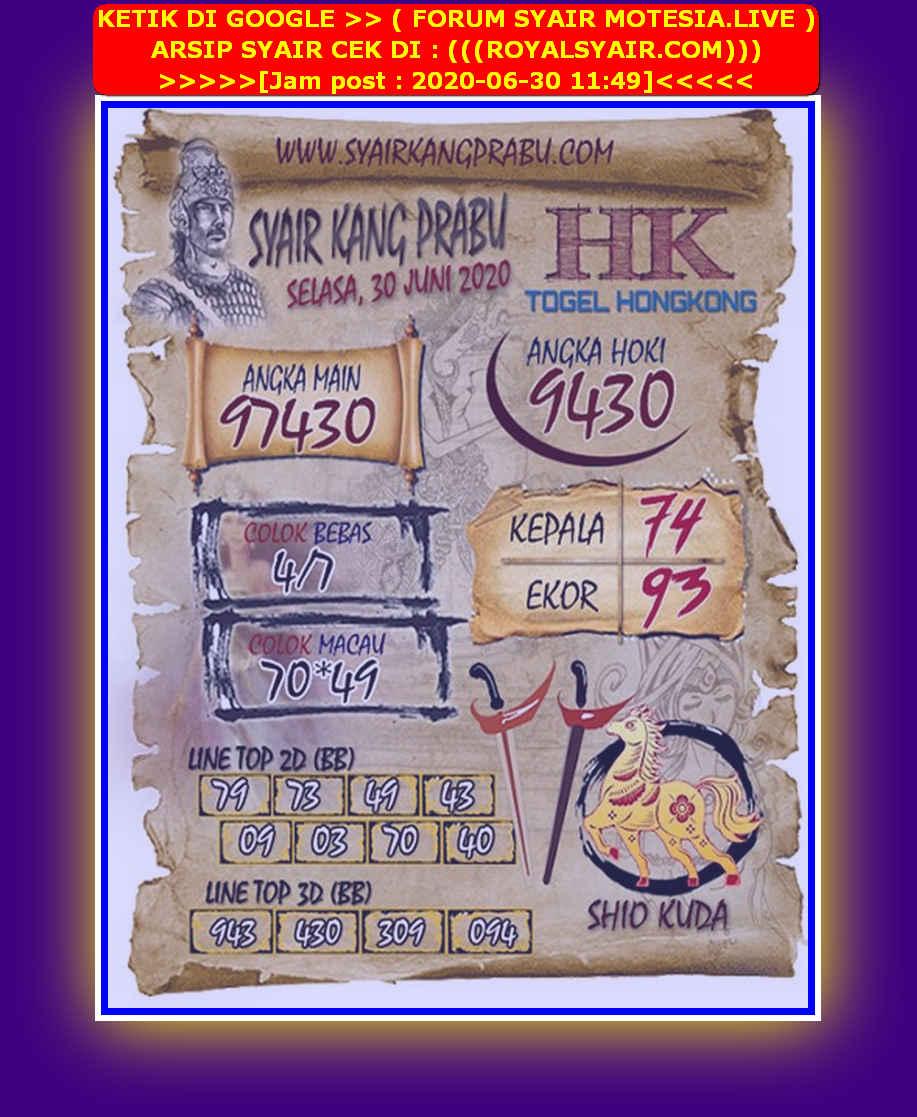 Kode syair Hongkong Selasa 30 Juni 2020 109