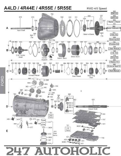 1993 Ford e4od transmission diagram