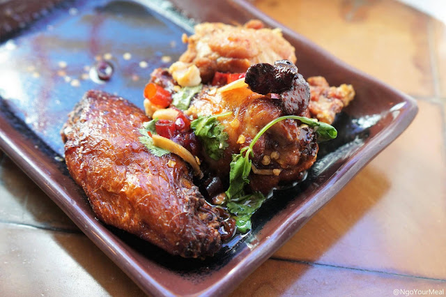 Maple-Miso Smoked Chicken Wings at Myers and Chang in Boston