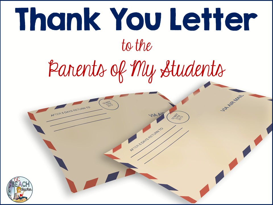 A Thank You Letter To Parents