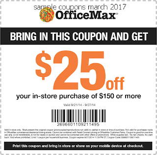 Office Max coupons march 2017
