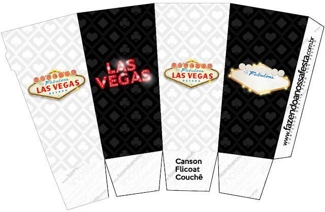 Cajas para palomitas de maíz = pop corns = poporopos de Fiesta de Las Vegas.