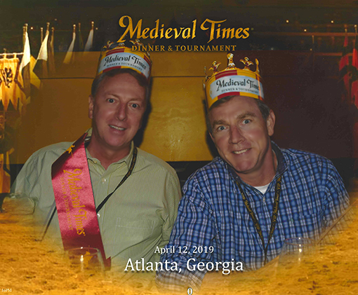 Travis Swann Taylor and Barry at Medieval Times Atlanta