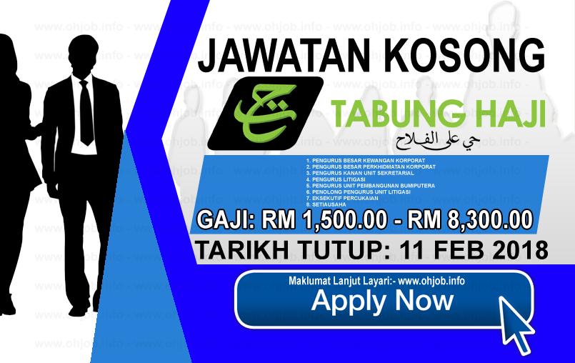 Jawatan Kerja Kosong Lembaga Tabung Haji - TH logo www.ohjob.info februari 2018