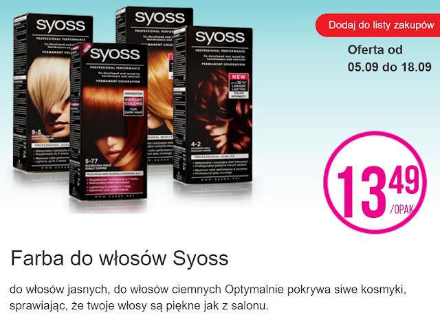 Farba do włosów Syoss - Biedronka, promocja