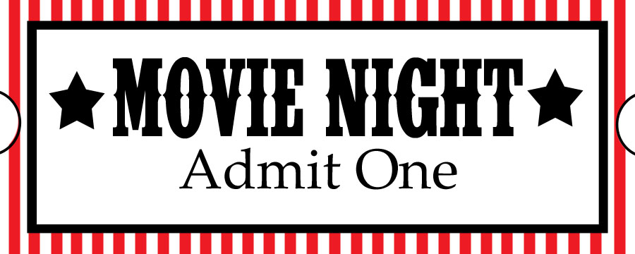 Sweet daisy designs free printables home movie theatre night for Fake movie ticket template