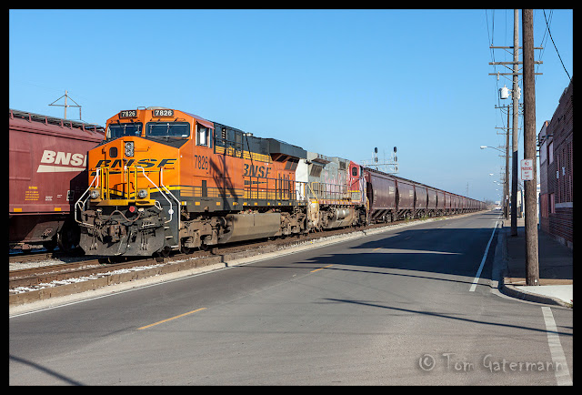 BNSF 7826 - Grain Train - State Street - Madison, IL