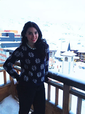 Hotel Tango balcony - Skiing at Val Thorens - ski holiday in the French Alps - travel blog