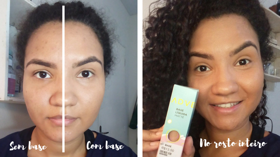 Pele sequinha com a Base Matte Adversa Makeup