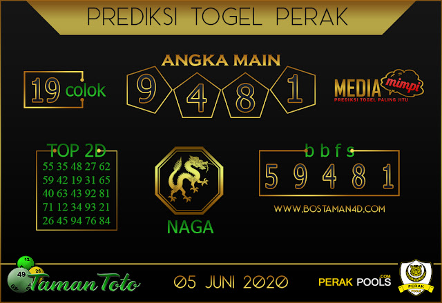 Prediksi Togel PERAK TAMAN TOTO 05 JUNI 2020