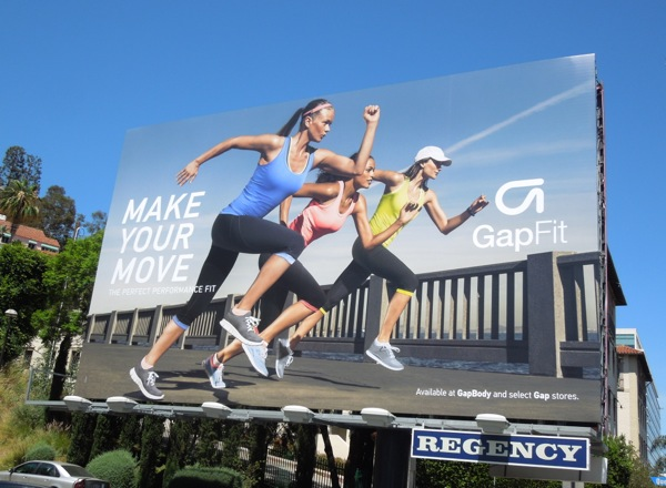 Gap Fit Make Your Move billboard Summer 2013