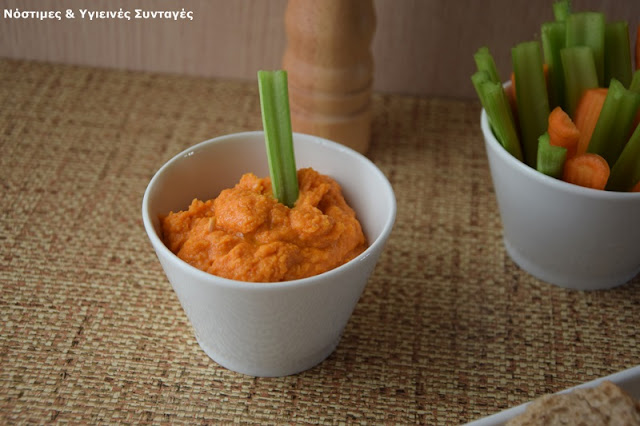 Recipe of the day: Hummus with Florina peppers reminiscent tyrokafteri
