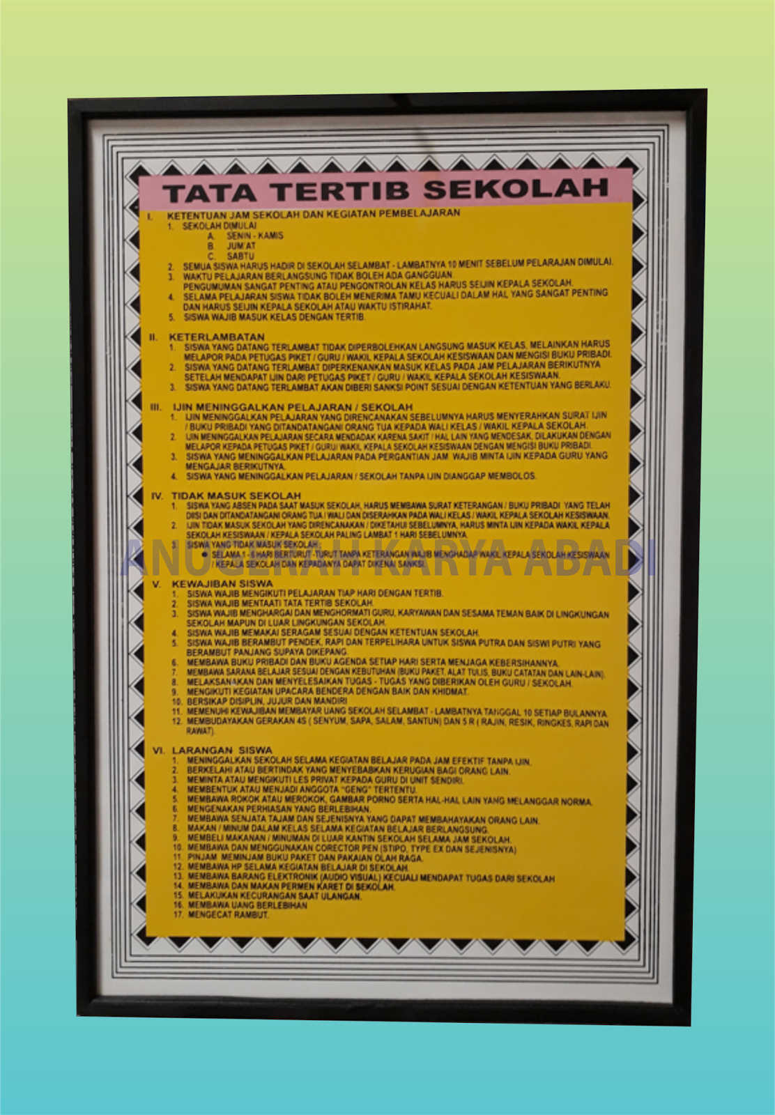 Papan Data SMP  MTs  Papan Data  CV Anugerah Karya