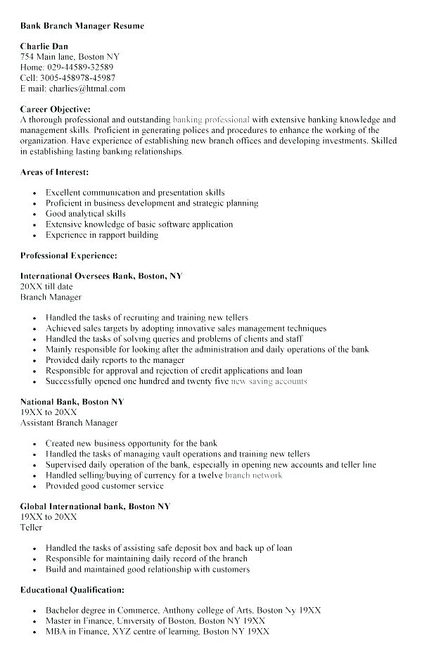 Personal Banker Resumes - Resume Templates