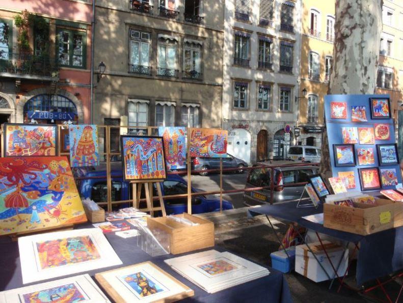 Quai des artistes à Lyon