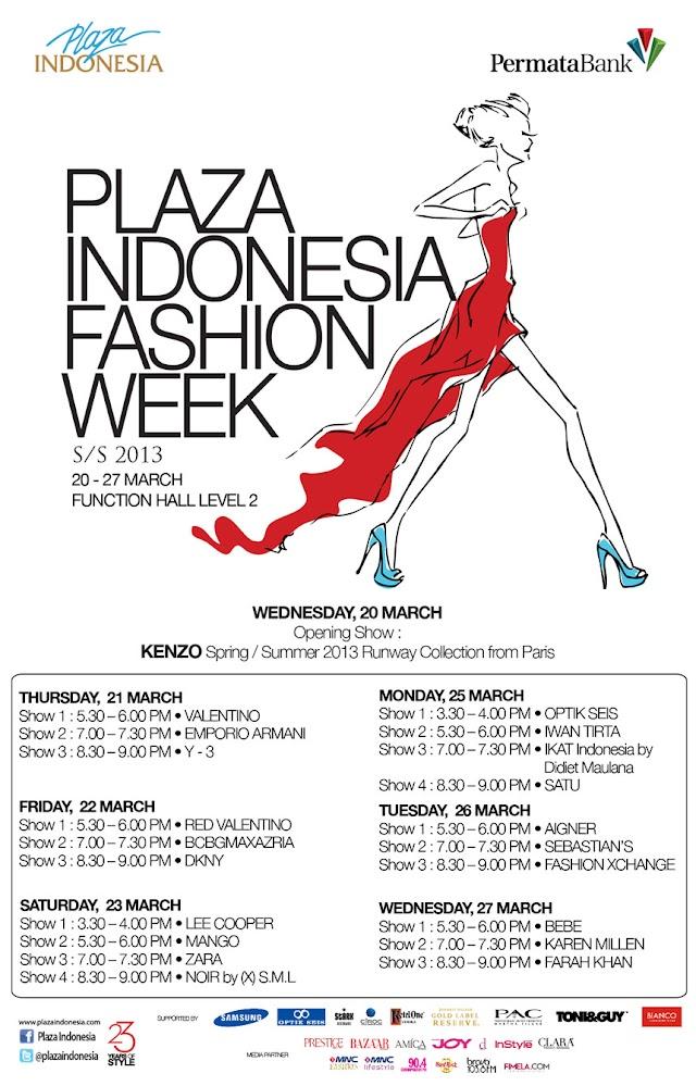 PLAZA INDONESIA FASHION WEEK 2013