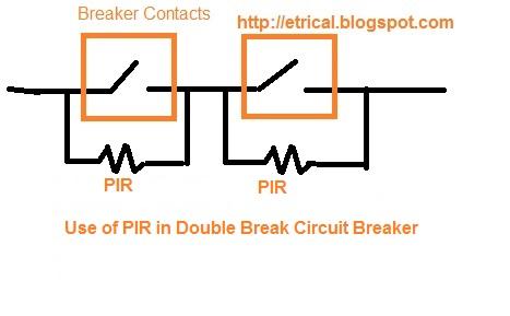 Pre-insertion Resistor and Grading Capacitor in Multi Break Circuit