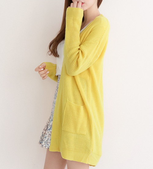 Amishop Loose Fit Cardigan