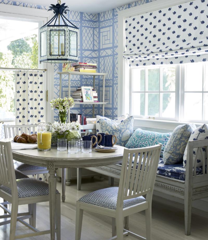 Wallpaper House Beautiful: Chinoiserie Chic: The Chinoiserie Breakfast Room
