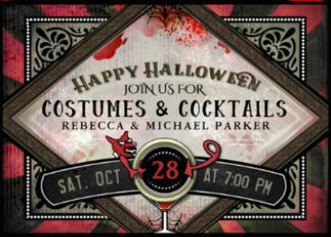 Costume Party Red Devil Halloween Party Invite