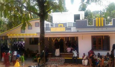 2 Bedroom Kerala House Free Plan For 14 Lakhs With 1028