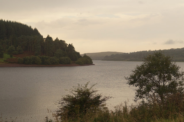 walking around Usk reservoir in Brecon Beacons National Park