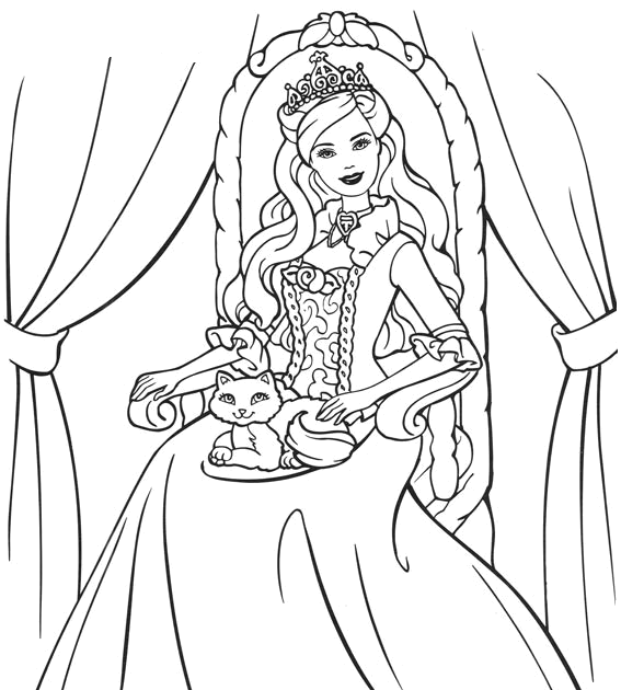 princess pauper coloring pages - photo#3